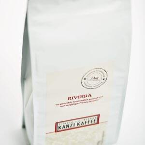 Kanzi Kaffee Beutel ein Kilo mit Riviera Kaffee