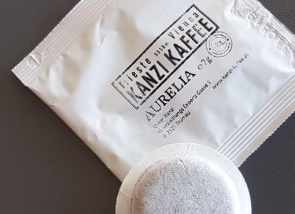 Kanzi Kaffee Papierfilter Pads mit Aurelia Kaffee