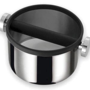 runde Abschlagbox aus Edelstahl