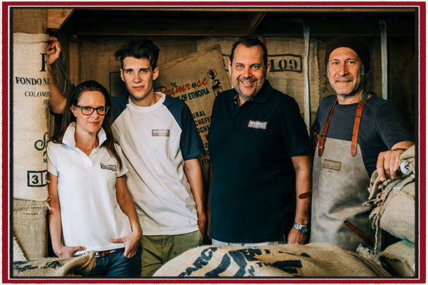 Kaffeemacher Röstfamilie nahe Wien KANZI KAFFEE